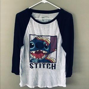 Disney Stitch baseball shirt !